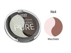 Тіні для повік Mineral Pure 3г тон 04 Макіато ТМ MAXI COLOR
