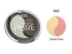 Тіні для повік Mineral Pure 3г тон 05 Рожева мрія ТМ MAXI COLOR