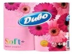 Туалетний папір 2 шаровий (4 шт в уп.) на гільзі рожевий SOFT ТМ ДИВО