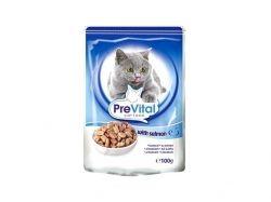 Пауч для котів з лососем в соусі 100 г ТМ PREVITAL