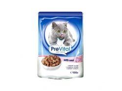 Пауч для котів з телятиною в соусі 100 г ТМ PREVITAL