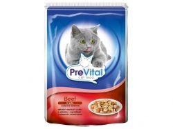 Пауч для котів з яловичиною в желе 100 г ТМ PREVITAL