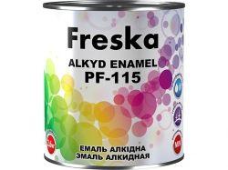Емаль алкідна 0,9кг ПФ115 (кор.) Темносiрий ТМ FRESKA