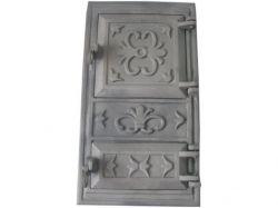 Дверцята чавунні cуцільні (квітка) ТМ ВОДОЛІЙЯП