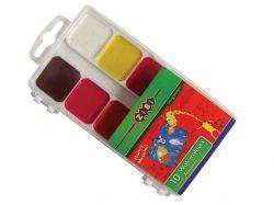 Акварель 10 кольорів, пласт. уп. ZB.6520 ТМ ZIBI