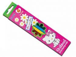 Набір кольорових олівців 6 кольорів (290233) дівчинка ТМ 1 ВЕРЕСНЯ