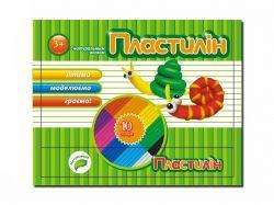 Пластилін 10 кольорів 100г Флуоресцентний Пантон ТЕТРАДА
