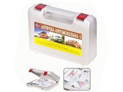 Аптечка автомобільна CarLife АМА-1 сіра з ручкою