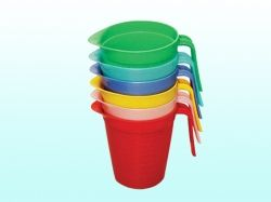 Кружка пластикова мірна 1л (зливна) ТМ МЕД