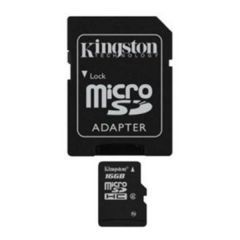 Kingston 16Gb microSDHC Class4  / SD адаптер / SDC4/16GB