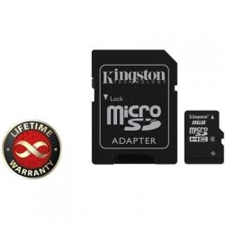 Kingston  8Gb Class4 / SD адаптер / SDC4/8GB