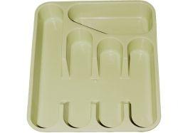 Лоток для столових приладів кремовий ТМ МЕД