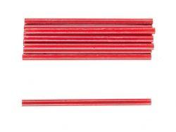 Комплект червоних овальних олівців з чорним грифелем 175мм уп.12шт 14B812 ТМ Hou