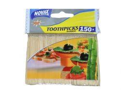 Зубочистки бамбукові 150 шт 9101 ТМ NOVAX