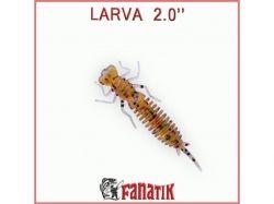 Силіконова приманка Larva 2 (50 мм) колір 003 (8шт. в уп. ) ТМ FANATIK