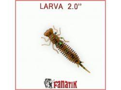 Силіконова приманка Larva 2 (50 мм) колір 004 (8 шт. в уп. ) ТМ FANATIK