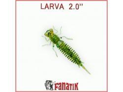 Силіконова приманка Larva 2 (50 мм) колір 005 (8 шт. в уп. ) ТМ FANATIK