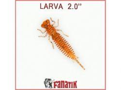 Силіконова приманка Larva 2 (50 мм) колір 009 (8 шт. в уп. ) ТМ FANATIK