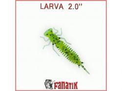 Силіконова приманка Larva 2 (50 мм) колір 022 (8 шт. в уп. ) ТМ FANATIK