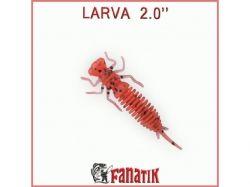 Силіконова приманка Larva 2 (50 мм) колір 023 (8 шт. в уп. ) ТМ FANATIK