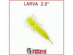 Силіконова приманка Larva 2 (50 мм) колір 024 (8 шт. в уп. ) ТМ FANATIK