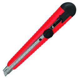 Нож с металлической направляющей под лезвие 9 мм с винтовой фиксацией INTERTOOL HT-0511