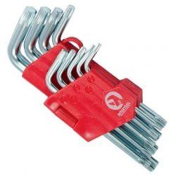 Набір Г-подібних ключів TORX 9шт, Т10-Т50, Cr-V, Small INTERTOOL HT-0607