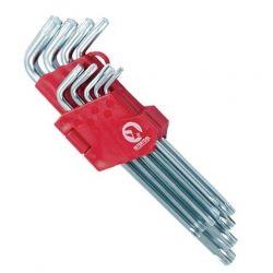 Набір Г-подібних ключів TORX 9шт, Т10-Т50, Cr-V, Big INTERTOOL HT-0608