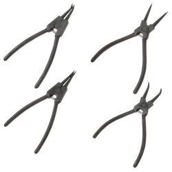 Набор щипцов (4шт) для снятия и установки стопорных колец 150мм INTERTOOL HT-7001