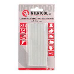 Комплект флуоресцентных клеевых стержней 7.4 мм*100мм, 12 шт INTERTOOL RT-1039