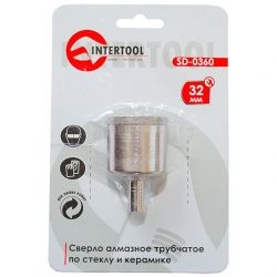 Коронка трубчатая по стеклу и керамике 32 мм INTERTOOL SD-0360
