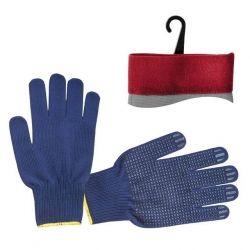 Рукавиця трикотаж синя SP-0132