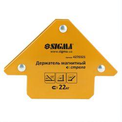 Держатель магнитный стрела 22кг 90x90 мм (45,90,135°) Sigma (4270321) 4270321