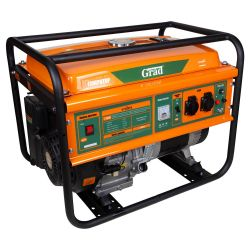 генератор бензиновый 5.0/5.5кВт 4-х тактный ручной запуск Grad grad 5710955