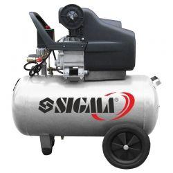 компрессор одноцилиндровый 1.8кВт 230л/мин 8бар 24л (2 крана) Sigma 7043131