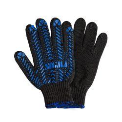 Перчатки трикотажные с ПВХ точкой р10 Актив (черные) Sigma (9442471) 9442471