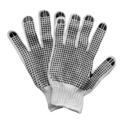 перчатки трикотажные с точечным ПВХ покрытием р10 (двухсторонние манжет) 9442331