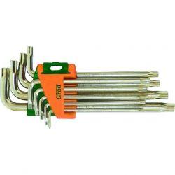 ключи torx 9шт T10-T50мм CrV (короткие с отвер) Grad 4022275