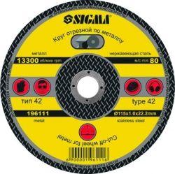круг отрезной по металлу ?115*1.6мм Sigma 1941231