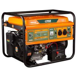 Генератор бензиновый 7.0/7.5кВт 4-х тактный электрозапуск GRAD (5710985) Grad 5710985