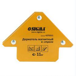 Держатель магнитный стрела 11кг 75x65мм (45,90,135°) Sigma (4270311) 4270311