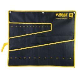 чехол для гаечных ключей 25шт sigma 6011111