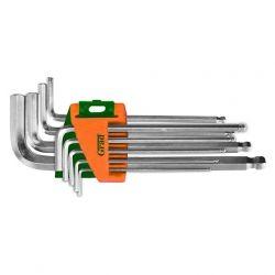 ключи шестигранные 9шт 1,5-10мм CrV (средние шар) Grad 4022185