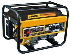 генератор бензиновый 5.0/5.5кВт 4-х тактный ручной запуск Sigma 5710301
