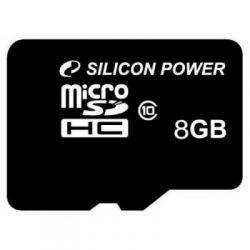 Silicon Power 8Gb Class10 / без адаптера / SP008GBSTH010V10