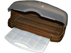 Хлібница пластикова з кух. дошкою 480*175*300мм (коричнева) ТМ КОНСЕНСУС