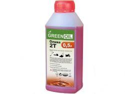 Масло для бензопили напівсинтетичне МОТО 2Т (АРІ ТС), 0,5 л ТМ GREEN OIL