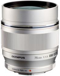 Объектив OLYMPUS ET-M7518 45mm 1:1.8 Серебро