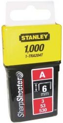 Скобы Stanley Light Duty тип А, 6мм, 1000шт