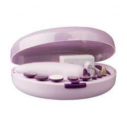 Маникюрный набор Maxwell MW-2601 насадок / Большая конусная насадка / Конусная насадка с грубым напылением / Конусная насадка с тонким напылением / Насадка для полировки / Большой диск для придания формы / Большой и малый диск с грубым напылением